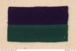 Picture of navy blue rectangle on top of dark green rectangle which was the Colour Patch of 2nd Infantry Battalion AIF