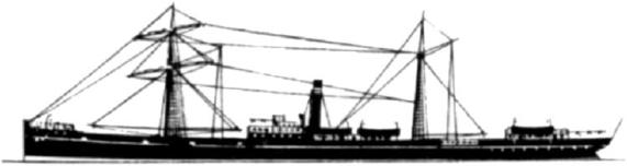 Image of HMAT A51 Chilka (source http://alh-research.tripod.com/ships_lh.htm) the ship that took Albert Platt to where he completed his duty as part of 18th Light Horse Regiment