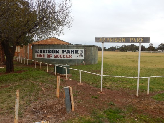 Harrison Park - Home of Soccer in Parkes. Photograph by Dan Fredericks (Parkes Shire Library)