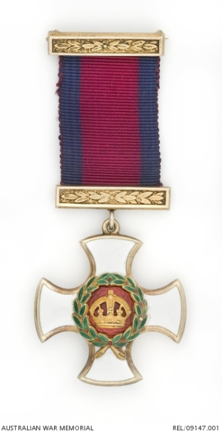 Distinguished Service Order (DSO) which was awarded to Major Sydney Walker