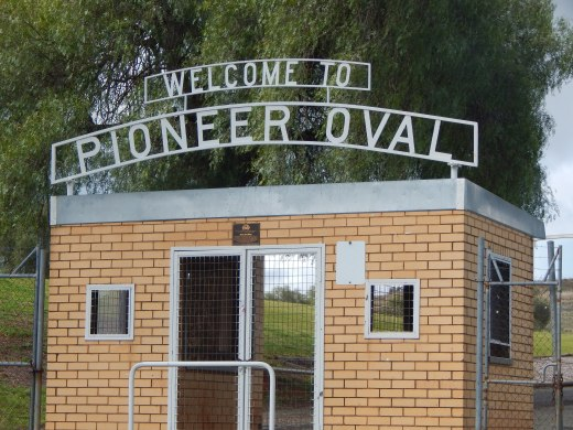 The entrance to Pioneer Oval
