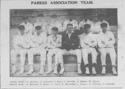 Parkes Cricket team Western Champion Thursday October 31, 1929