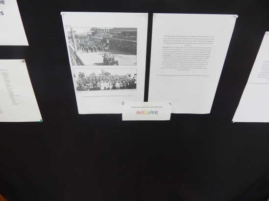 Focusing on the 'Boomerang' march in 1916 which started in Parkes. These pages are from Parkes: A Photographic History by Ian Chambers