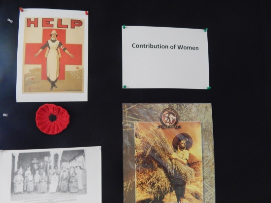 Highlighting just some of the enormous effort that women had during the two world wars. Crocheted poppy and Australian Women's Land Army poster on loan courtesy of Parkes Historical Society. Photograph of Bogan Gate Red Cross is from Gateway to the Bogan by C R Judson - Parkes Shire Library has two copies of this book, one in public catalogue and another reference copy in the Family & Local History room. Photograph of Australian Red Cross woman is from wikimedia commons https://commons.wikimedia.org/