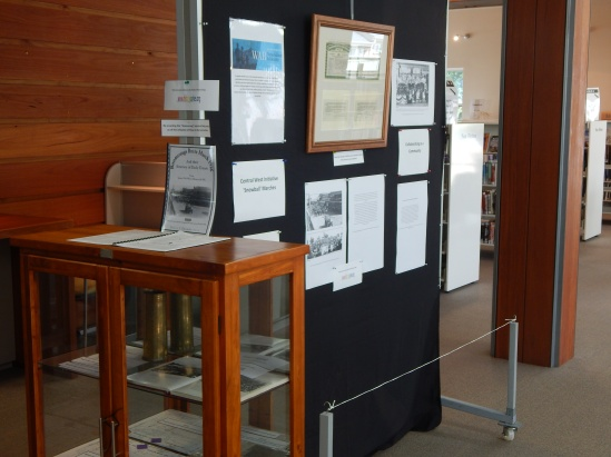 Angled view of display within Parkes Shire Library