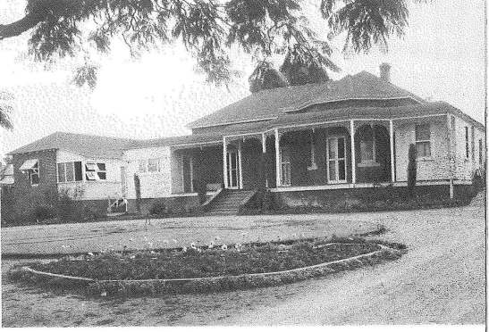 Rosedurnate Hospital about 1948. The latest in a series of major development works was opened on October 2, 1982. Source of photograph and caption: Parkes: 100 Years of Local Government by Ron Tindall (editor) Griffin Press Limited: Netley, South Australia, page 169