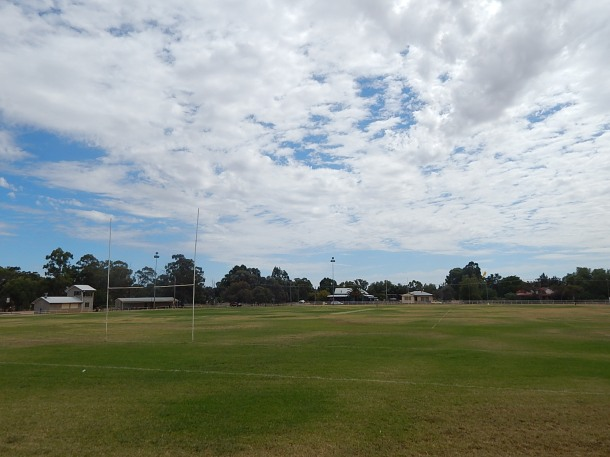 Berryman Park, home of the Trundle Boomers. Photograph by Sandie Ward (Parkes Shire Library) taken on March 11th 2016