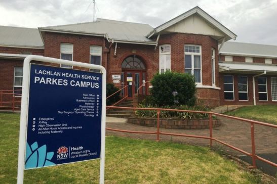 Photograph of the old Parkes Hospital just after the new Parkes Hospital was opened. Source: ABC News website