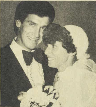 Two Olympians united together. Photograph of Graham and Nira Windeatt after their wedding at Xavier Church, Narrabri. Source: The Australian Women's Weekly Wednesday 6 June 1979 page 12