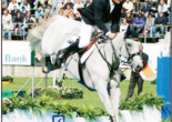 Photograph of Peter McMahon and KS Genoa competing in the World Championships in Aachen, 2006. Source: Parkes Champion Post Friday August 8, 2008 page 8
