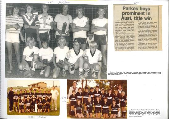 More from the scrapbook of Stephen Davies' parents. Included are photos of Stephen's success in baseball, and hockey representative teams in 1979 and 1980. The newspaper article highlights the dominance of Parkes hockey at the time. Photographs courtesy of John and Brenda Davies