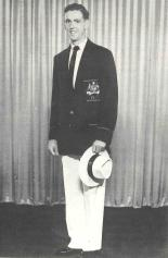 Photograph of Parkes' Ted McGlynn, in uniform prior to the Melbourne Olympic Games in 1956. Source: Parkes: 100 Years of Local Government by Ron Tindall (editor) (1983) Griffin Press Limited: Netley, South Australia, page 303