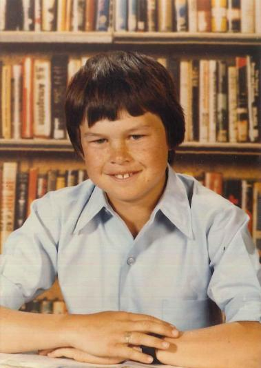 Young Stephen at school. Photograph courtesy of John and Brenda Davies