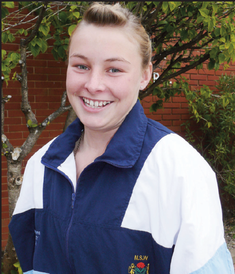 A young Mariah Williams, photographed in New South Wales uniform and in the running for 2008 Parkes Sportsperson of the Year along with fellow Olympian Peter McMahon. Source: Parkes Champion Post Monday 24 November, 2008 page 16