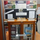 Photograph of the front side of Parkes Library's History Week display. The theme this year is Neighbours. Photograph by Dan Fredericks (Parkes Shire Library) taken September 2, 2016