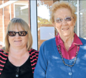 Donna Drabsch with nominator, Audrey Jayet. Source: Parkes Champion Post Wednesday July 11, 2012 page 8