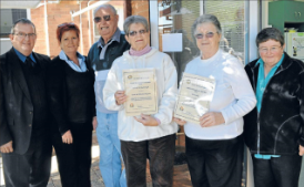Kevin and Christine McGuire (left) nominated Bob and Flo Riseborough as their Good Neighbours. Cae Angrove (far right) nominated Pat Bailey. Source: Parkes Champion Post Wednesday July 11, 2012 page 8