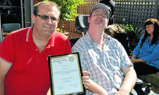 Aaron Kelly (left) was nominated by Josh Cowling (right) Source: Parkes Champion Post 18 May 2014
