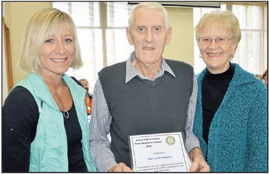 Good Neighbours Awards 2016. Nominator Sonia Davies with her Good Neighbours Peter and Di Manktelow. Source: Parkes Champion Post Friday June 17, 2016 page 3