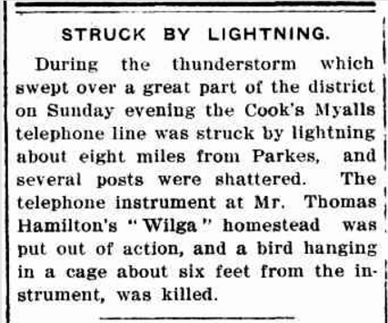 In times of emergency, it was neighbours that you would turn to for help. Long before mobile phones and email, if the telephone lines were cut, it could leave people quite isolated. Having good neighbours allowed people to not only have company during difficult times but also provided support and care when needed. Source: The Western Champion Thursday November 14, 1912, page 19 accessed by Trove
