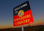 Welcome to Wiradjuri Country sign at Cowra. The Parkes Shire is part of the wide-ranging Wiradjuri nation. Source: Luke Wong, ABC Open website