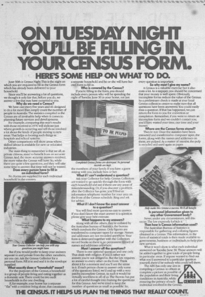 Whole page advertisement in local newspaper. Source: Parkes Champion Post Monday June 29, 1981 page 5