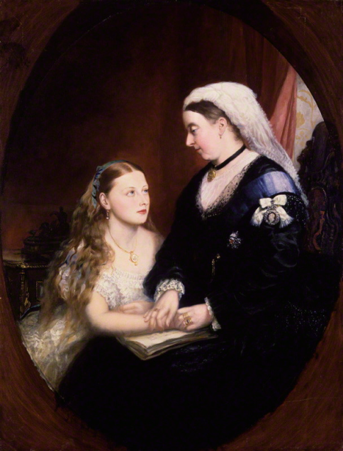 Queen Victoria viewed women pursuing manly endeavours - such as medicine - as mad folly. Image Princess Beatrice of Battenberg; Queen Victoria by Unknown artist oil on canvas, late 1860s-early 1870s NPG 5828 © National Portrait Gallery, London used under permission of Creative Commons