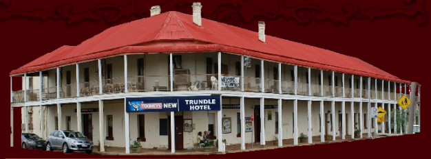 Trundle Hotel, where Dr Dagmar Berne passed away after attending a sick patient while she herself was quite unwell. Trundle Hotel has made Dagmar Berne its patron saint. Source: Trundle Hotel website
