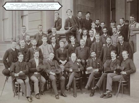 Third year medical students with sole female Medical student, Dagmar Berne, in the centre. Source: University of Sydney Archives http://sydney.edu.au/arms/archives/history/senate_exhibitions/students_women_history_medicine.shtml
