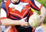 Brett Finch, former NRL star, playing for Peak Hill Roosters. Source: Parkes Champion Post Friday April 22, 2016 page 25