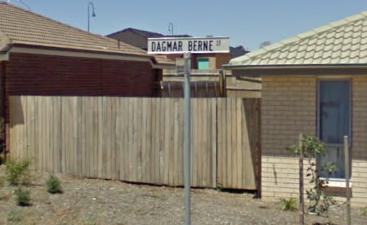 Street sign of Dagmar Berne Street in MacGregor ACT. Source: Google Street View