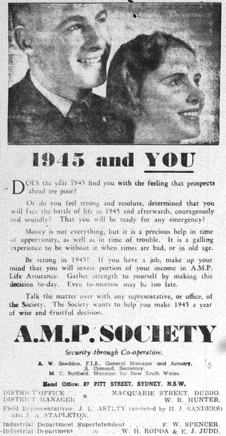 "Compared to contemporary print advertisements, the 1945 versions were loaded with information and quite ""wordy"". Note also that this advertisement includes manager and employee details. Source: The Champion Post Thursday February 15, 1945 page 3"