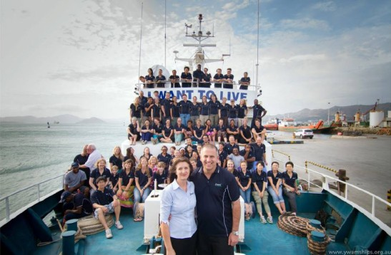 Being Alectown born and bred didn't prevent Ken Mulligan gaining his sea legs! This photograph is of Ken and Robyn Mulligan on the YWAM ship which regularly sails to Papua New Guinea. Source: Parkes Champion Post website