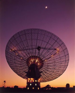 This photo was taken in 1969 - at around the time that The Dish assisted NASA with the first manned moon landing. Even today it is still one of the most advanced telescopes of its kind. Image credit: CSIRO