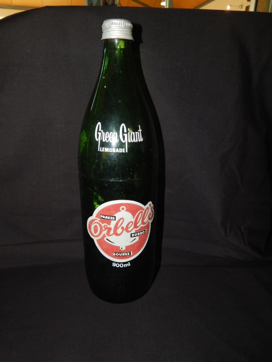 Photograph of soft drink bottle from locally based beverage manufacturer Orbell's. This bottle one of several on loan courtesy Dad & Dave's Collectables http://www.facebook.com/dadanddave