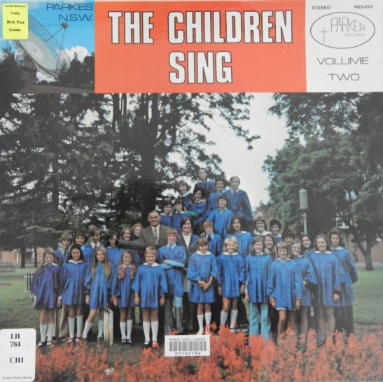 Before music was streamed, on compact discs or even cassette tapes, it was recorded on records! This record is the second volume of the children of the Parkes Methodist Junior Choir. It was recorded with pipe organ accompaniment at the Parkes Methodist Church in 1974. Source: Parkes Library Family & Local History Resource Room