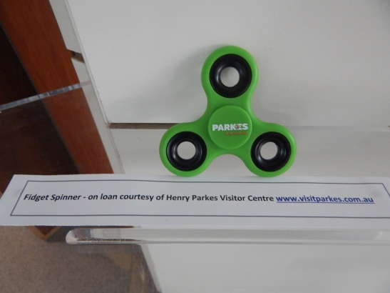 Not all pop culture toys are retro! The fidget spinner has been one of the most popular toys in the last 18 months. Again a toy whose design owes much to scientific principles, this is one of several items available for sale at the Henry Parkes Visitor Centre. For more information head to Visit Parkes website