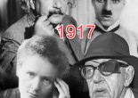 """Deemed """"the year that changed the world"""" 1917 was an eventful year full of firsts. This image shows four influential people from 1917. Clockwise from top left: Albert Einstein, Charlie Chaplin, Marie Curie and John Ford. Source: Belfast Telegraph website"""