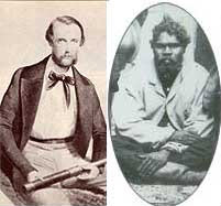 Photographs of Edmund Kennedy (left) and Jackey Jackey. The two were close friends as well as fellow explorers. Source: Eacham Historical Society website