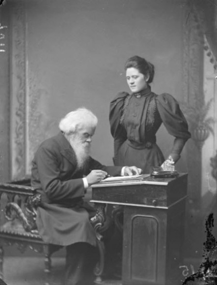 Sir Henry Parkes and his third wife, Julia in 1895. Julia would did not have any children to Sir Henry Parkes and after he died in 1896 she raised the children from his second marriage. Source: Glebe Society website