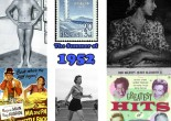 "Images of the summer of 1952. Clockwise from top left: a young Rex Aubrey who would become the first Olympian of the Parkes Shire; postage stamp for the upcoming Helsinki Olympic Games; Queen Elizabeth II; album cover for ""Greatest Hits of 1952""; Marjorie Jackson competing in Sydney before representing Australia later that year at the Olympic Games; poster for ""Ma and Pa Kettle Back on the Farm"" which was showing at the Century Theatre in Parkes."