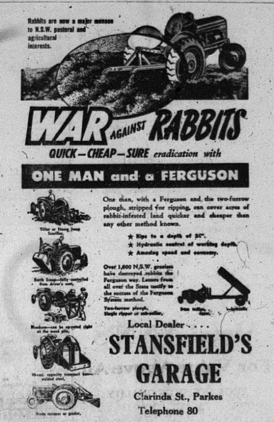war on rabbits ad