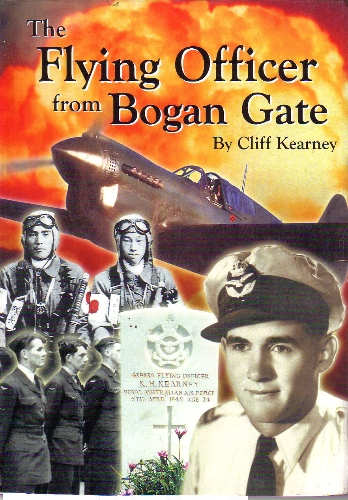 Front cover of Cliff Kearney's book about his cousin, Flying Officer Keith Kearney of Bogan Gate. Source: db Books website which can be found at https://www.dbbooks.com.au/p/17903/Flying-Officer-from-Bogan-Gate---Cliff-Kearney---sc---*signed*.html