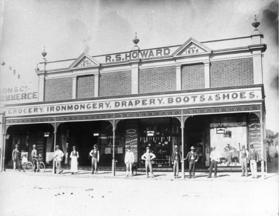 Staff outside R.S. Howard stores, Clarinda Street, Parkes Source: State Library Archives
