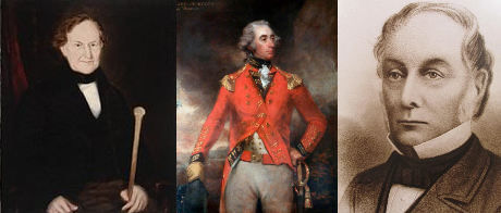 Family and friends in Middelton's family line. (Left) Andrew Hamilton Hume; (centre) Sir Francis Rawdon, also known as the 2nd Earl of Moira and later the first Marquess of Hastings; (right) famous explorer Hamilton Hume who completed the first journey from Sydney to Melbourne. Sources: Wikitree website; Rawdon Historical Society website and Sydney Morning Herald.