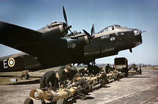 Stirling bomber N6101 of No 1651 Heavy Conversion Unit RAF, Waterbeach, Cambridgeshire, England April 1942. Source: World War 2 Database website