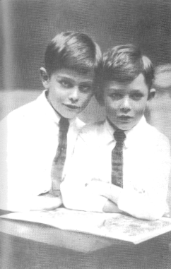 Rawdon Middleton (left) aged ten years and brother Osman aged eight years at Wean, Boggabri in 1927. Source: Middleton, VC by Stuart Bill (1991) East Bentleigh: Stuart & Lucile Bill.