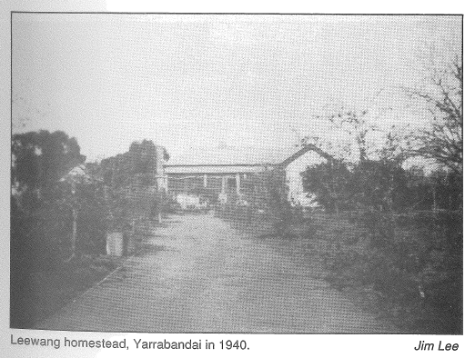 The Middleton homestead, Leewang at Yarranbandai in 1940. Source: Middleton, VC by S. Bill (1991) East Bentleigh: Stuart & Lucile Bill page 45