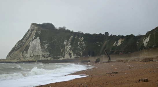 Photograph of Shakespeare Beach in Dover, where Rawdon Middleton's body was washed ashore on February 1, 1943. Source: Flickr website