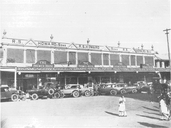 This photograph highlights the huge size and variety contained with Howards stores. The photograph is taken in 1924 and also is a great record of 1920s vehicles - one of which is a Howards delivery truck. Source: Chambers, I (1988) p.163